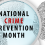 October:  National Crime Prevention Month